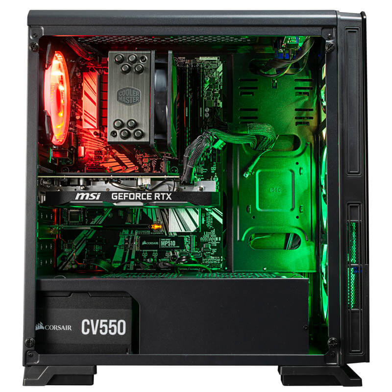 inside a gaming PC