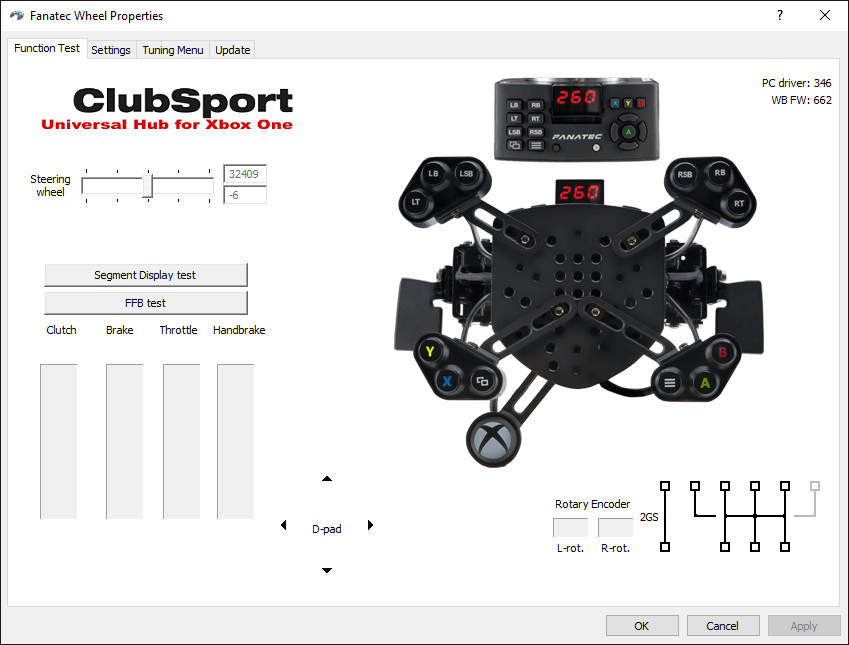 Fanatec Clubsport wheel settings