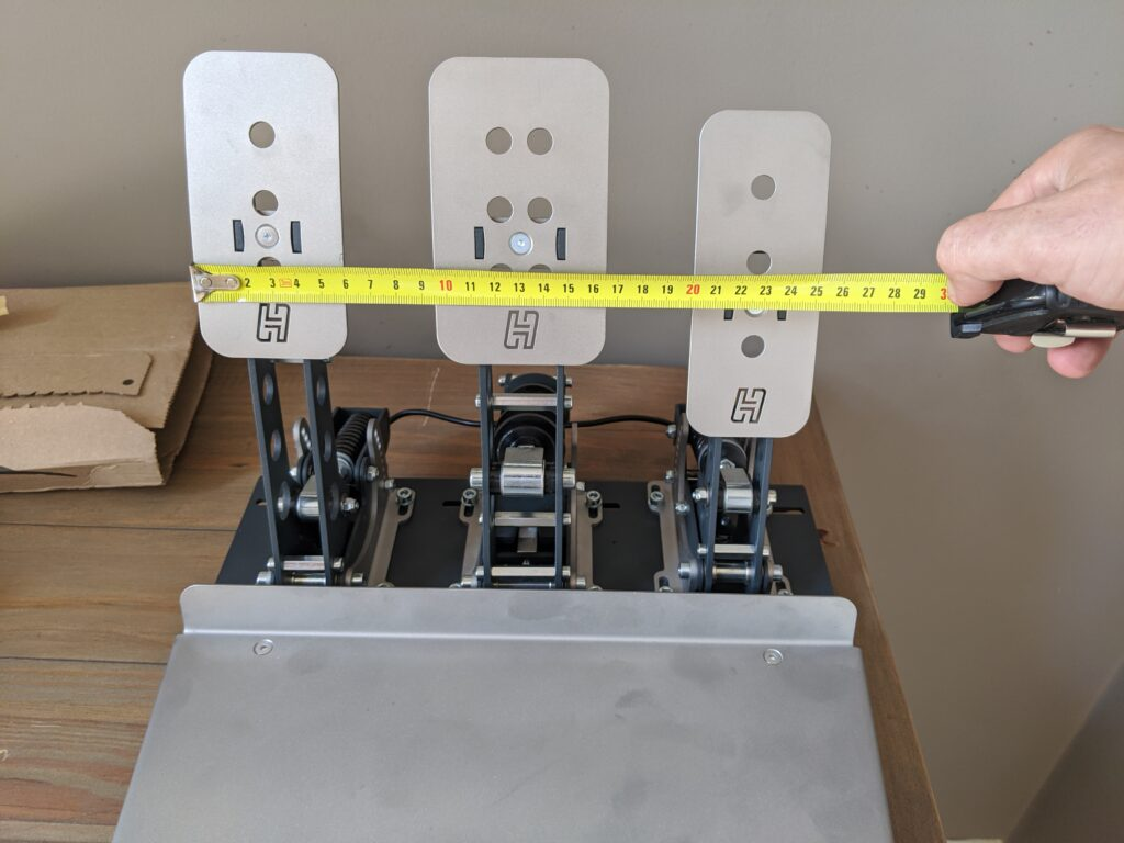 Heusinkveld pedal gap adjustment