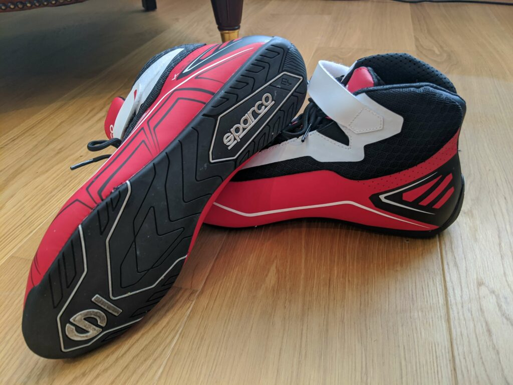 Sparco K-Run kart boots after about a month of regular use