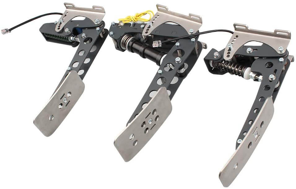 sim pedals with load cell brake