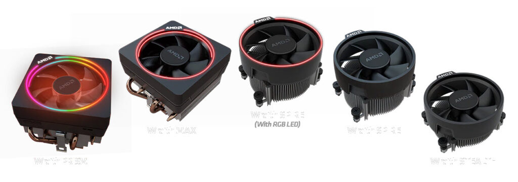AMD's range of processor coolers