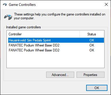 Your DD2 or Fanatec wheel should appear here