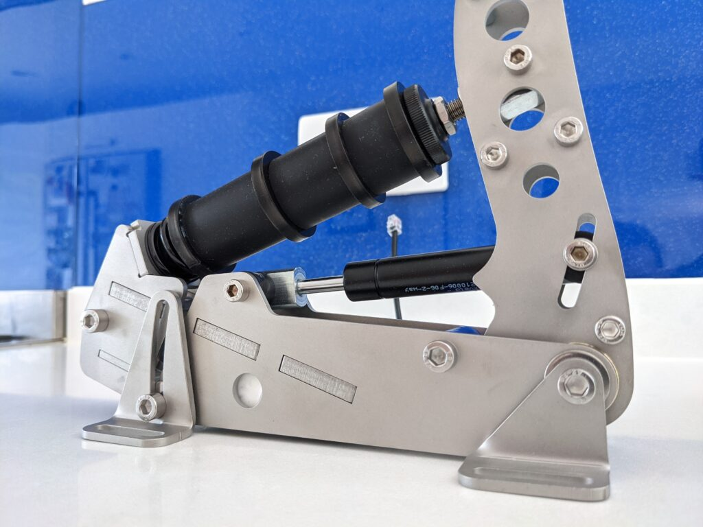 The newly revised elastomers give plenty of scope to adjust the pedal to simulate a particular brake feel.