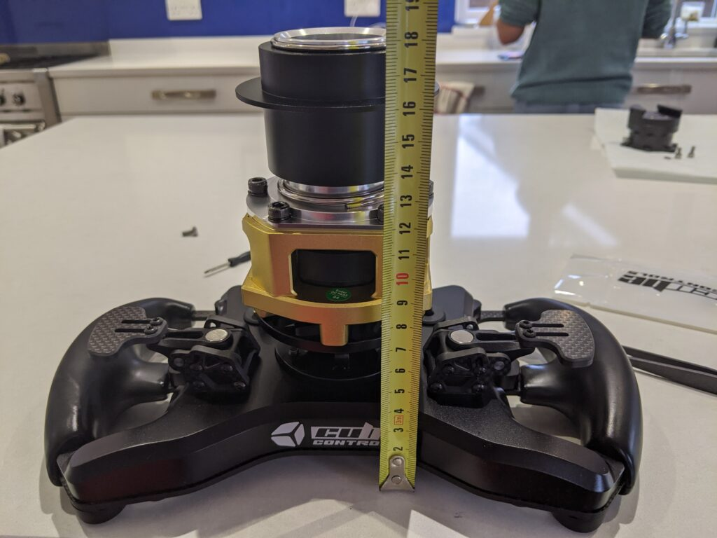 cube controls wheel mounted to fanatec podium hub