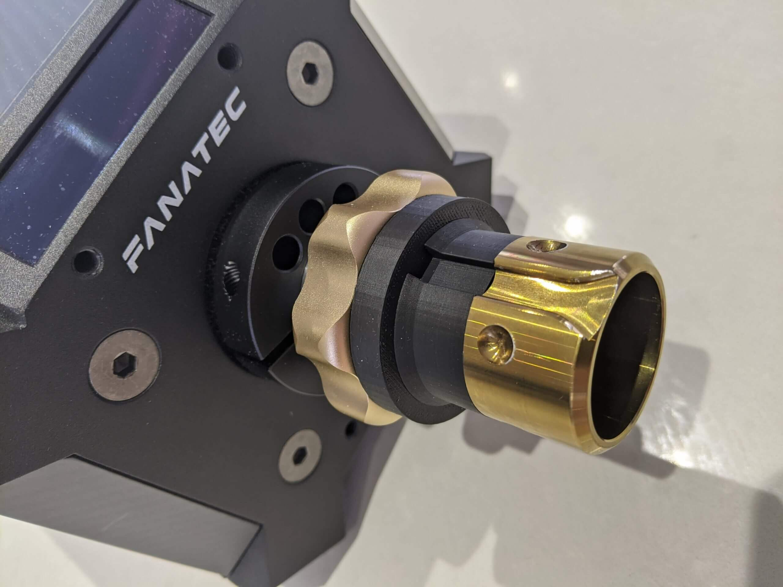 fanatec dd2 hub with z-ring installed