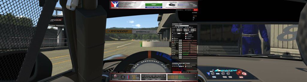 FOV and camera settings for Samsung G9 in a Mazda MX5 in iRacing