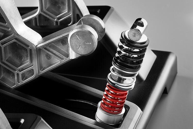 Cast aluminium pedal levers