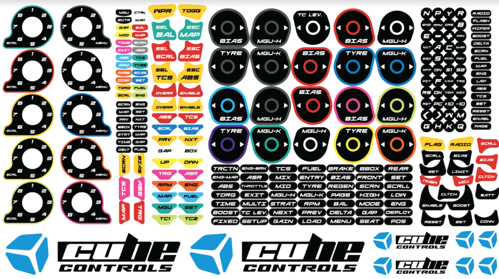 Cube Controls Stickers 2.0