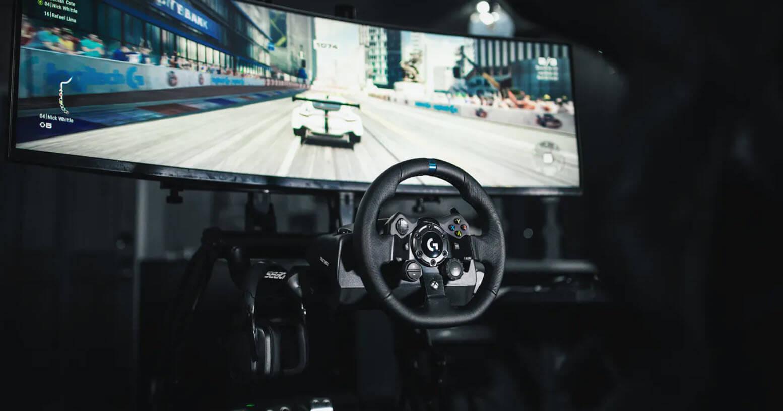 logitech g923 sim steering wheel setup