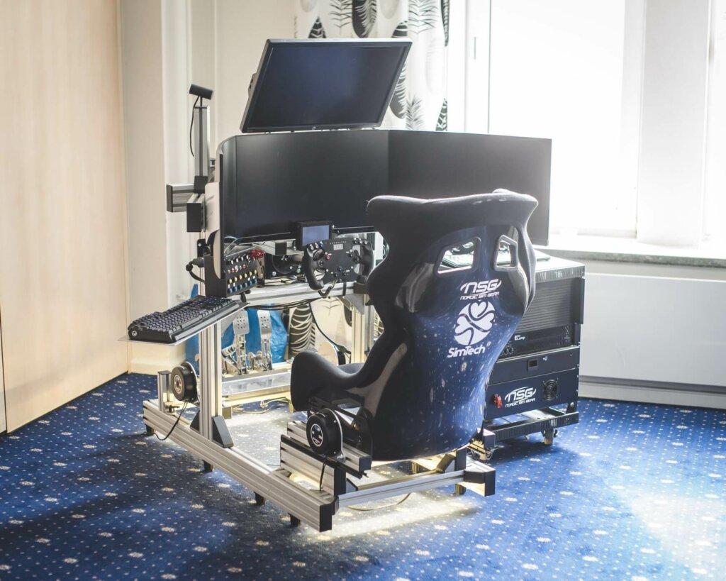 A SimTech sim racing rig