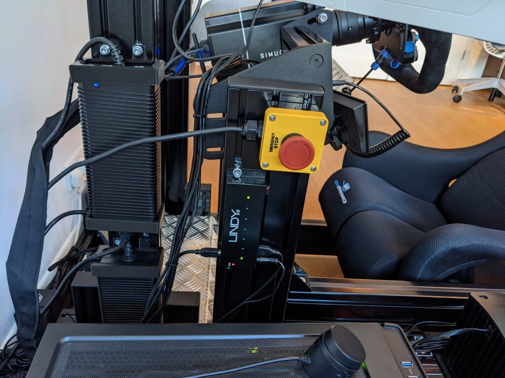 cable tidyness in sim rig