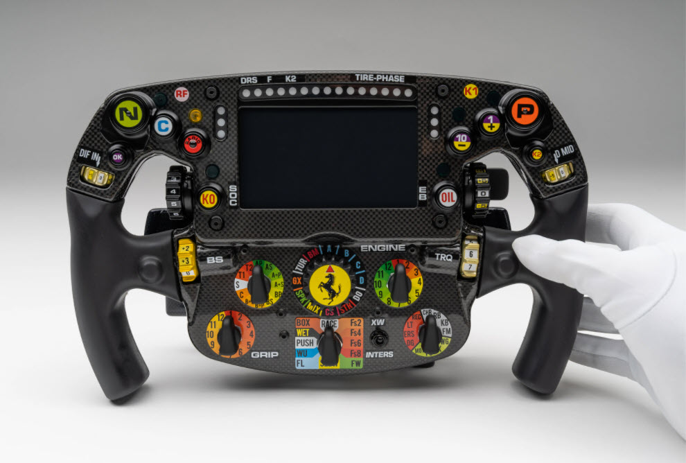 Genuine Ferrari SF1000 Formula One Steering Wheel