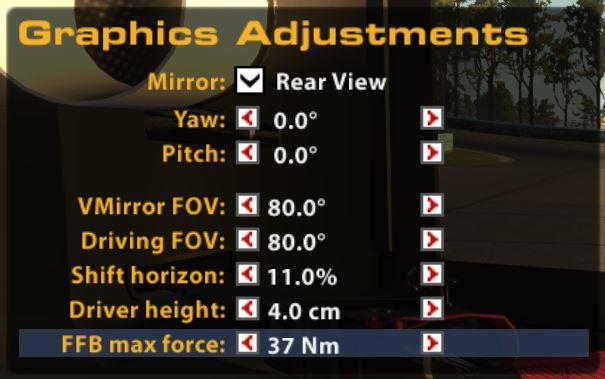 iRacing black box FFB max force adjustment