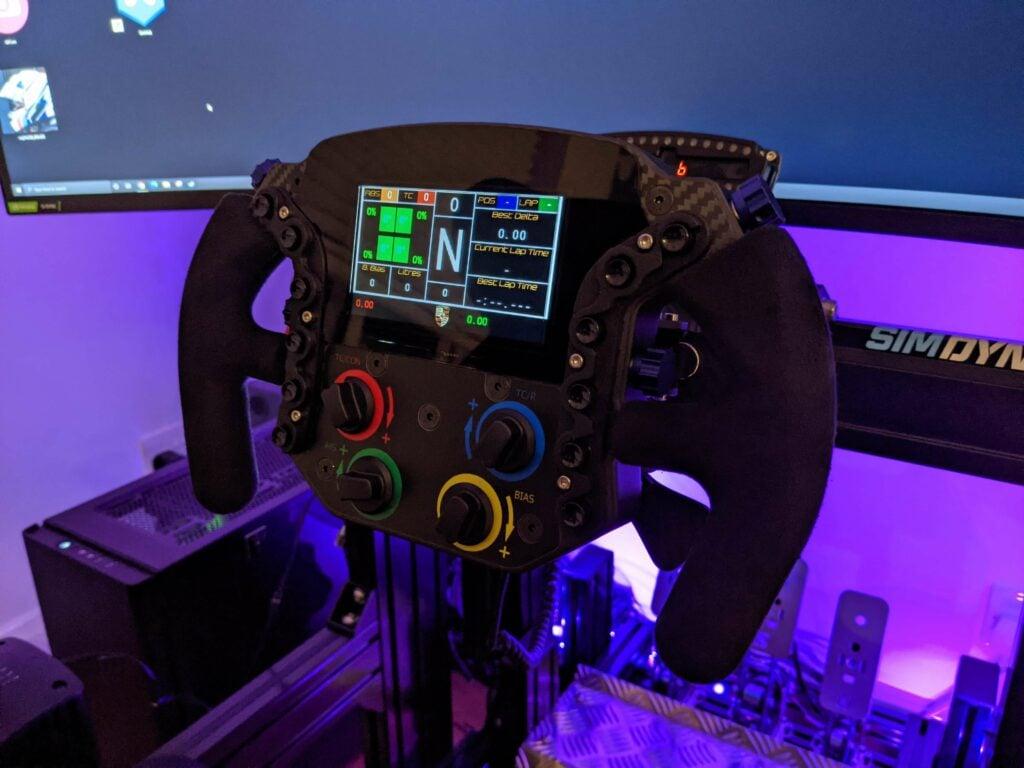 my custom sim steering wheel