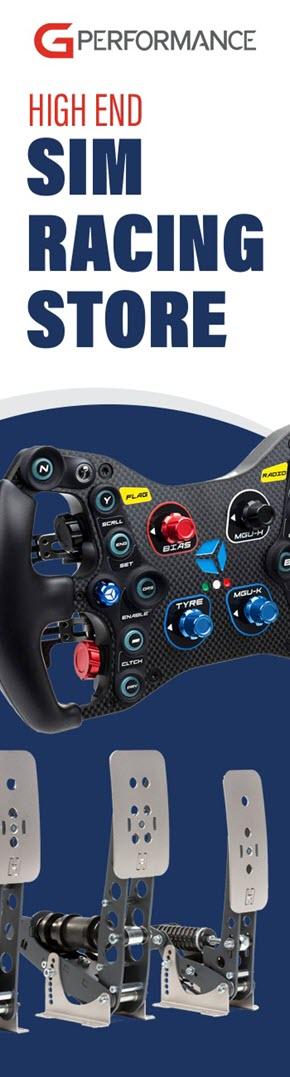 g-performance sim racing gear