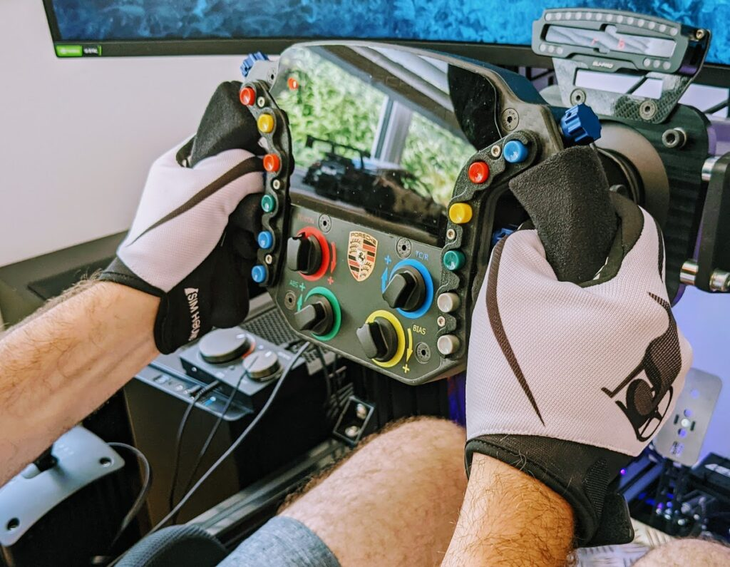 sim racing gloves from SimHound