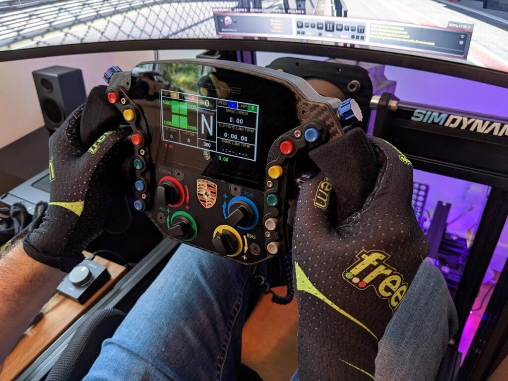 Freem's sim racing gloves